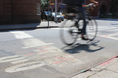 A cyclist was beaten up at the northeast corner of Christopher Street and Greenwich Avenue, police said.