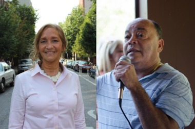 Debbie Milan (l.) is challenging incumbent Martin Dilan (r.) for the 18th state senate district's democratic nomination.