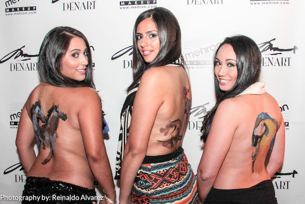 DenArt body painting studio has been hosting monthly parties in Williamsburg where people can paint bodies or get their bodies painted.