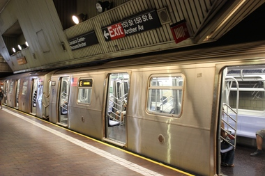 A man was hurt after he walked into an E train as it was pulling out of the Jamaica Center-Parsons/Archer Avenue station Wednesday morning, officials said.