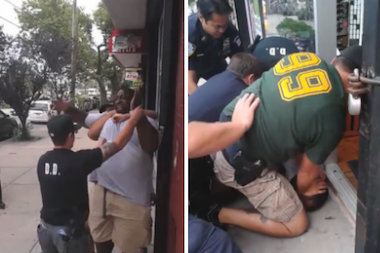 Eric Garner died after an officer used a chokehold on him while trying to arrest him in Staten Island.