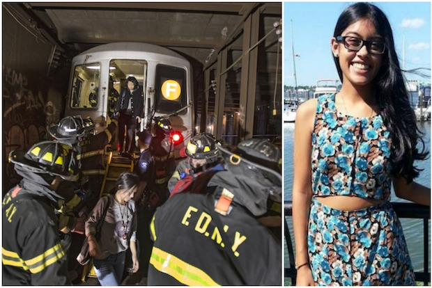 Melanie Chandan, 19, said she doesn't feel safe taking the subway since she was on the F train that derailed on May 2.
