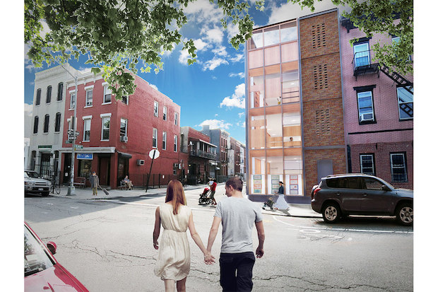 A glass building for a preschool is being proposed for Williamsburg's only protected historic block.