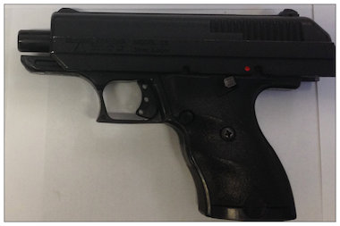 Police released a photo of the gun they say was used in Saturday's shooting.