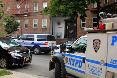A man was found dead in a Flushing elevator shaft at 41-90 Frame Place Wednesday afternoon, Aug. 6, 2014.