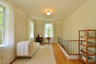 The four bedroom duplex was renovated, maintaining historic details, according to the broker.