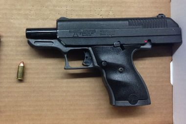 Anthony Guyton was holding a Hi-Point 9 mm pistol when police arrived, authorities said.