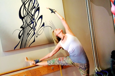 Local artist and mom Lisa Stefanelli is replacing her painting studio with a barre workout space.
