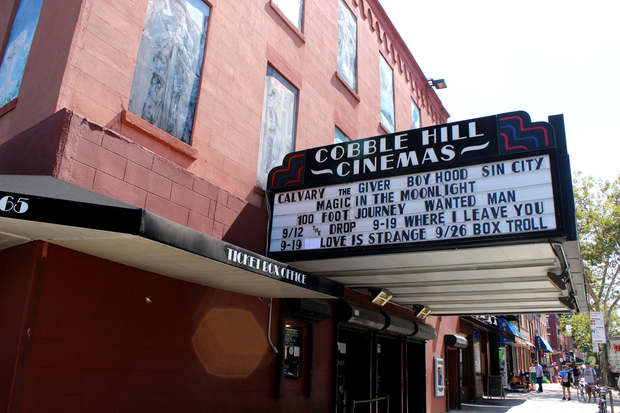 Cobble Hill Cinemas is installing solar panels on its roof that will help power movie screenings at the theater, owners said.