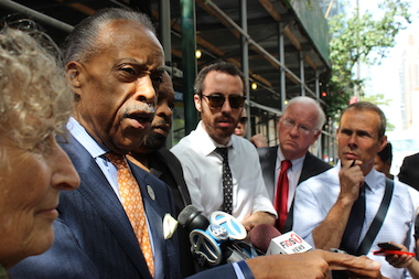 Mayor Bill de Blasio and the Rev. Al Sharpton dismissed criticisms from police unions surrounding the death of Staten Island man Eric Garner.