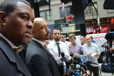 The Rev. Al Sharpton's National Action Network's Law Enforcement and Public Safety Coalition, which consists of several retired NYPD officers and supervisors and led by Northeastern Regional Director Kirsten John Foy, met with Department of Investigation Commissioner Mark G. Peters and NYPD Inspector General Philip Eure Friday.