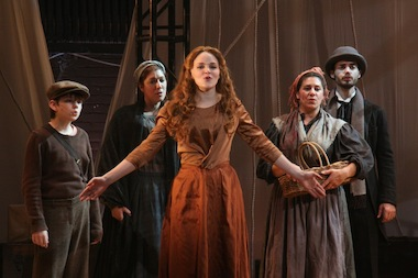 "Stills of a performace of ""Liberty: A Monumental New Musical."""