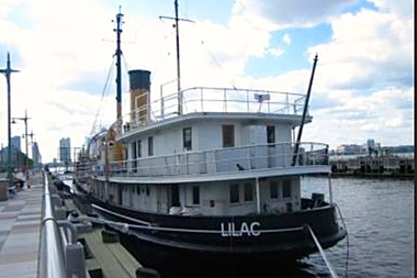 The historic steamship Lilac has been docked at TriBeCa's Pier 25 since May 2011.