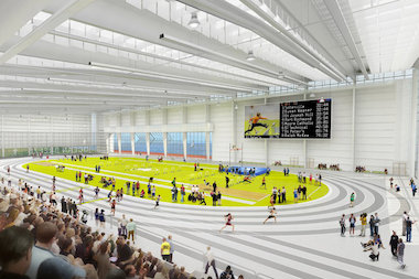 The $93 million Ocean Breeze Track and Field Complex is set to open in the fall.