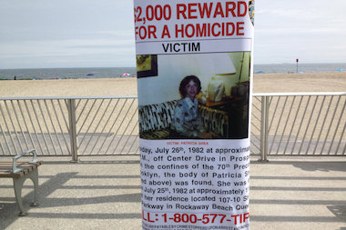 Posters went up this weekend around Rockaway, across from where Shea was last seen.