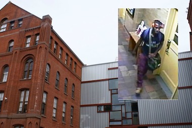 A man allegedly exposed himself to a woman working at Pratt Institute on Friday, August 8, 2014, at approximately 8:40 a.m.