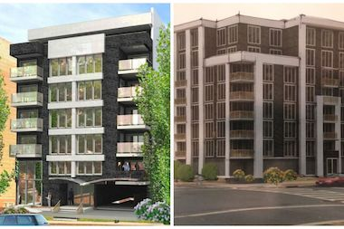 TCX Developments is planning three buildings in Queens, including one on Hillside Avenue (left) and one in the Jamaica Estates area (right).