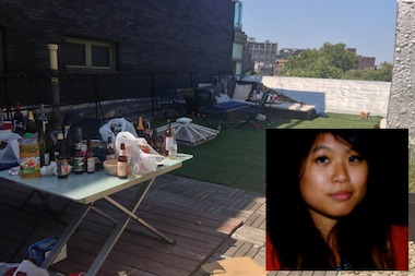 Cindy Yeh, 23, fell from a roof on Sullivan Street early Sunday morning, police said.
