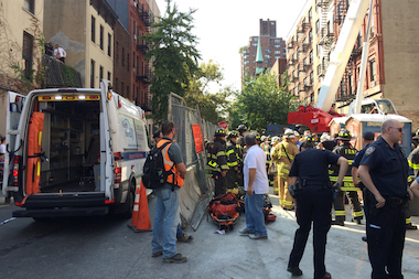 A construction worker was injured on the Second Avenue subway project Wednesday afternoon, officials said.