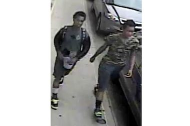 Police are looking for these two suspects in connection with the attack on  72-year-old Donald Lathrom in the West Village Monday.