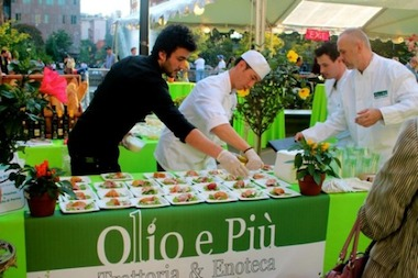 The Olio e Piu table at last year's Taste of the Village.