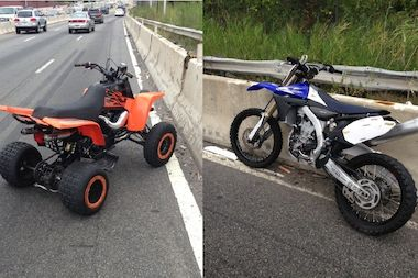 Police seized several ATVs and dirt bikes.