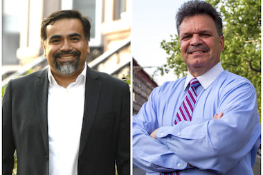 Assemblyman Felix Ortiz, right, beat community board member Ceasar Zuniga for the 51st District Assembly seat.