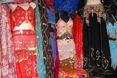 More than $2,000 worth of belly dancing paraphernalia was stolen from a car parked on Fort Greene Place.