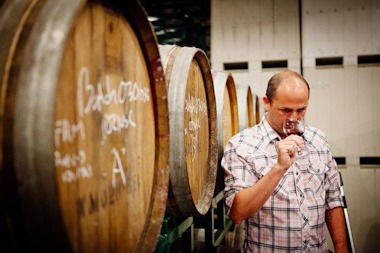 Brooklyn Winery's Conor McCormack helped put together a class to help people make wine at home.