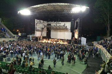 The Forest Hills Stadium before the Replacements concert last Friday.