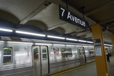 A G train at the Seventh Avenue stop in Park Slope. The MTA is scheduled to unveil plans to move the agent booth at the Seventh Avenue stop at a Sept. 17 Community Board 6 meeting.