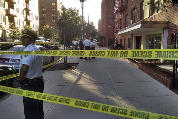 Three people were found dead in an apartment fire on in Flushing Tuesday, officials said.