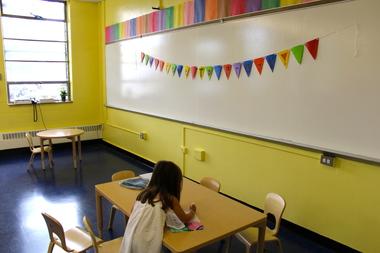A Brooklyn pre-K classroom.