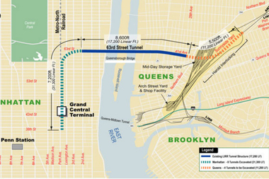 A layout of the East Side Access project to be completed by 2022.