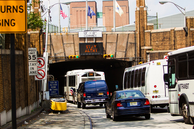 A traffic jam at the Lincoln Tunnel on Aug. 4, 2012.
