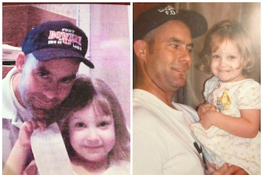 Michael Boyle, a city firefighter who died on 9/11, and his niece, Amanda.