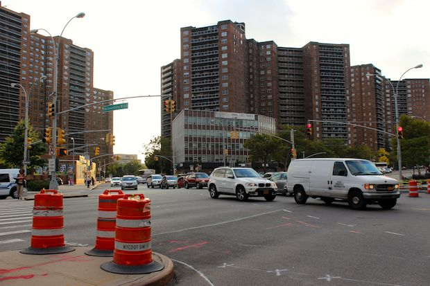The DOT has installed several safety improvements at the intersection of Queens and Yellowstone boulevards.