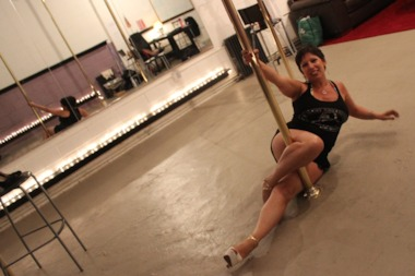 Sally Sutton, owner of Greenpoint's new Brooklyn Pole Dance Studio, wants to welcome people of all ages and genders to come work out.