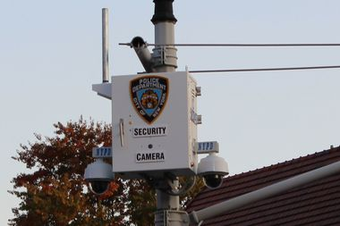 Security cameras at Forest Park, which were finally installed in July after years of delays.