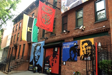 Spike Lee's studio in Fort Greene has become a memorial to four men who allegedly died at the hands of police.