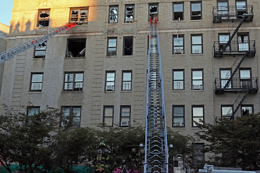 A fire broke out on the fifth floor of 109 West 12th Street Friday afternoon.