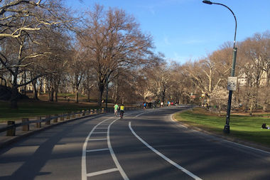 West Drive in Central Park.