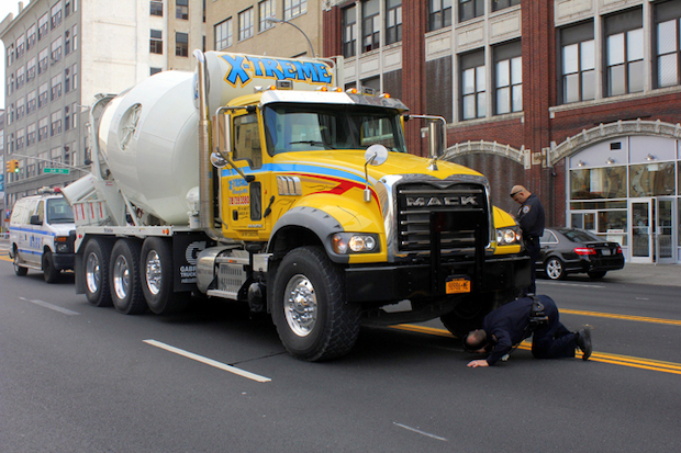 A 60-year-old man was struck and killed by cement truck while he was crossing Northern Boulevard at 34th Street in Astoria Wednesday afternoon, police said, Oct. 29, 2013.