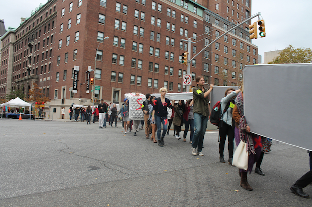 Students demanded more changes to the university's policies at a rally Wednesday.