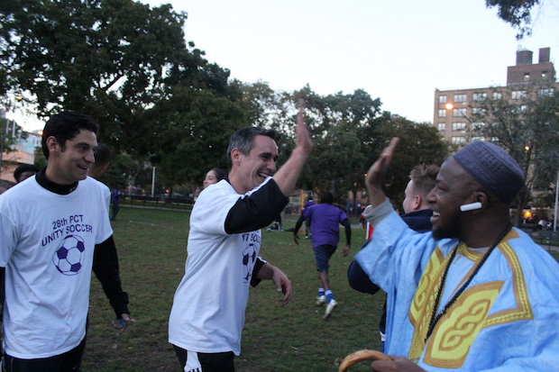 To help restore the relationship between Harlem's African community and the 28th Precinct, community and police leaders decided to hold a soccer game.