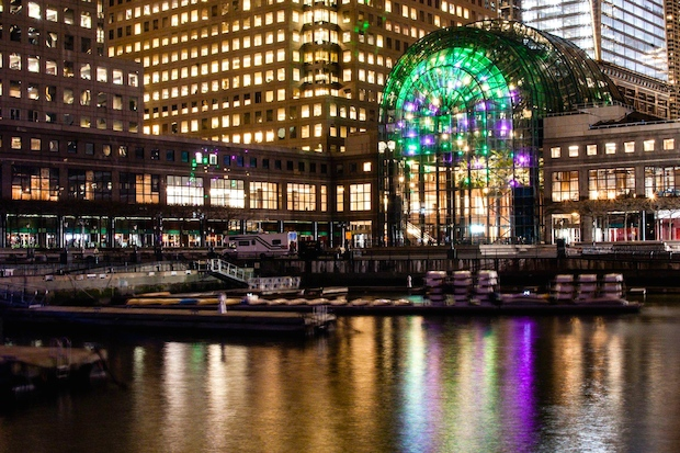 Dazzling 39 Light Cycles 39 Exhibit Returns To Battery Park