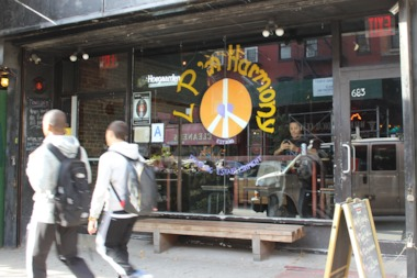 A man brought home two men and one woman after drinking at LP 'N Harmony, a bar at 683 Grand St.