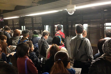 The A train was over 100 percent behind schedule more than 10 percent of the time over the past 12 months.