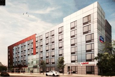 A Rendering Of Springhill Hotel Planned For Queens Boulevard Between Jamaica And Hillside Avenues