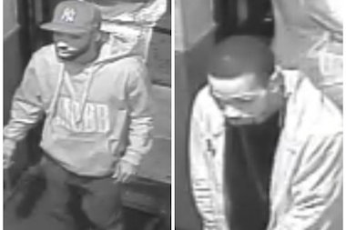 Police are looking for two men they said fired into a crowd outside a Staten Island nightclub.